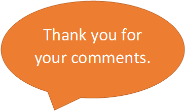Thank you for your comments